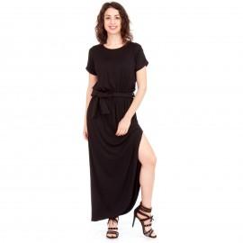 Μαύρο Maxi Φόρεμα με Άνοιγμα στο Πλάι