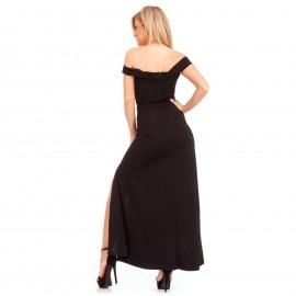 Μαύρο Maxi Strapless Φόρεμα