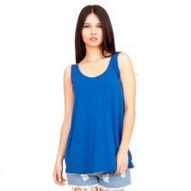 Μπλε Ρουά Αμάνικη Μπλούζα με Ανοιχτή Πλάτη