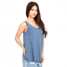 Σιέλ Αμάνικη Μπλούζα με Ανοιχτή Πλάτη