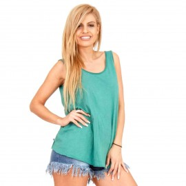 Πράσινη Αμάνικη Μπλούζα με Ανοιχτή Πλάτη