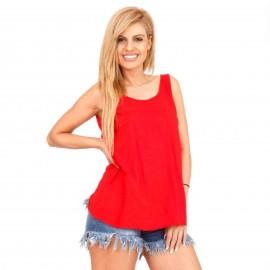 Κόκκινη Αμάνικη Μπλούζα με Ανοιχτή Πλάτη