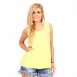 Κίτρινη Αμάνικη Μπλούζα με Ανοιχτή Πλάτη