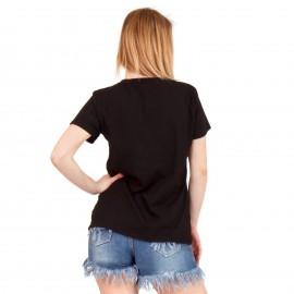 Μαύρο T-Shirt με Ρίγα