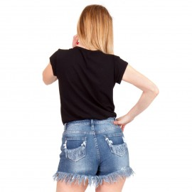 """Μαύρο Μπλουζάκι με Στάμπα """"Ramones"""""""