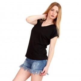 Μαύρο Κοντομάνικο Μπλουζάκι