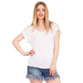 Λευκό Κοντομάνικο Μπλουζάκι