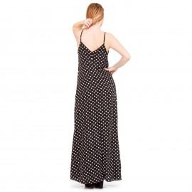 Μαύρο Πουά Maxi Φόρεμα
