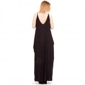 Μαύρο Maxi Φόρεμα με Τσέπες