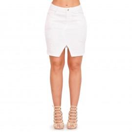 Λευκή Φούστα με Σκισίματα