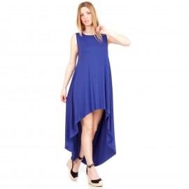 Μπλε Ρουά Ασύμμετρο Maxi Φόρεμα