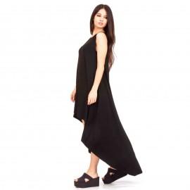 Μαύρο Ασύμμετρο Maxi Φόρεμα
