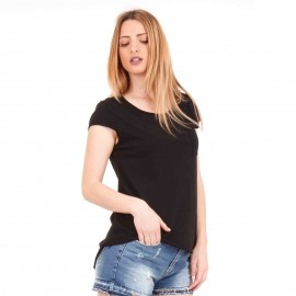Μαύρο Κοντομάνικο Μπλουζάκι με Τσεπάκι