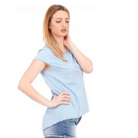 Σιέλ Κοντομάνικο Μπλουζάκι με Τσεπάκι