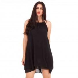 Μαύρο Mini Φόρεμα με Φιόγκο