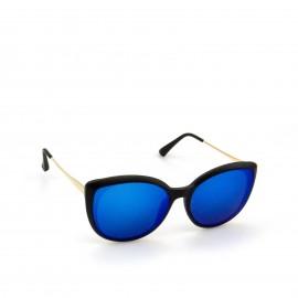 Γυαλιά Ηλίου Μαύρα με Μπλε Φακό