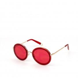 Γυαλιά Ηλίου με Κόκκινο Polarized Φακό και Χρυσό Σκελετό