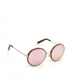 Γυαλιά Ηλίου με Ρόζ Polarized Φακό και Χρυσό Σκελετό με Λεοπάρ Λεπτομέρειες