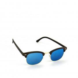 Γυαλιά Ηλίου Ξύλινα με Μπλε Καθρέφτη Φακό