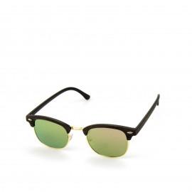 Γυαλιά Ηλίου Ξύλινα με Πράσινο Καθρέφτη Φακό