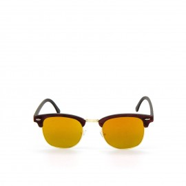 Γυαλιά Ηλίου Ξύλινα με Κίτρινο Καθρέφτη Φακό