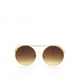 Γυαλιά Ηλίου με Καφέ Φακό και Χρυσό Σκελετό