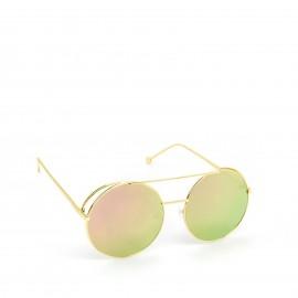 Γυαλιά Ηλίου με Ρόζ Καθρέφτη Φακό και Χρυσό Σκελετό