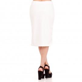 Λευκή Midi Φούστα