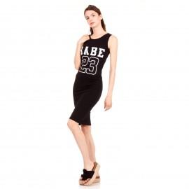 Μαύρο Midi Φόρεμα με Γράμματα ''BABE 23''