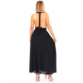Μαύρο Maxi Πολυμορφικό Φόρεμα