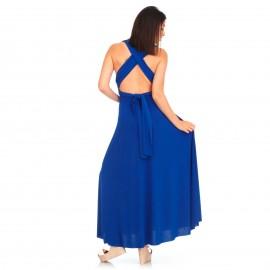 Μπλέ Maxi Πολυμορφικό Φόρεμα