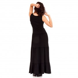 Μαύρο Maxi Μακό Φόρεμα