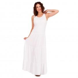 Λευκό Maxi Μακό Φόρεμα