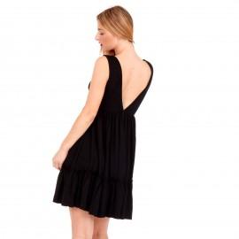 Μαύρο Midi Φόρεμα με Φραμπαλά