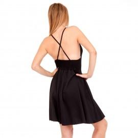 Μαύρο Mini Φόρεμα με Χιαστί Πλάτη