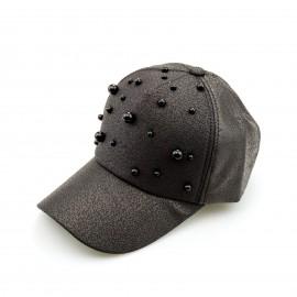 Μαύρο Καπέλο Jockey με Πέρλες