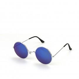 Γυαλιά Ηλίου με Μπλε Στρογγυλό Φακό