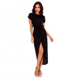 Μαύρο Maxi Φόρεμα με Ζωνάκι
