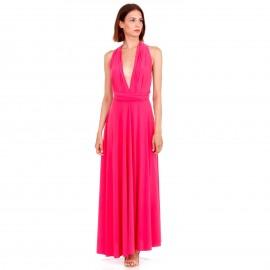 Φούξια Maxi Πολυμορφικό Φόρεμα
