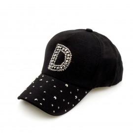 Μαύρο Καπέλο Jockey με Τρουκς