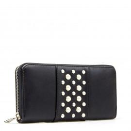 Μαύρο Πορτοφόλι με Πέρλες