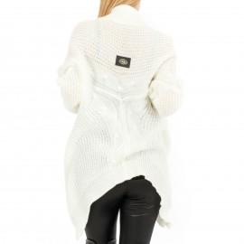 Λευκή Πλεκτή Ζακέτα