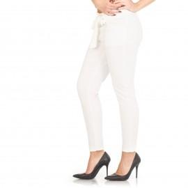 Λευκό Ψηλόμεσο Παντελόνι