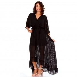 Μαύρο Maxi Κρουαζέ Φόρεμα