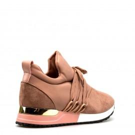 Ροζ Sneakers με Κορδόνια
