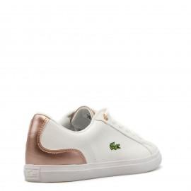 Λευκά Sneakers Lacoste με Χάλκινη Λεπτομέρεια