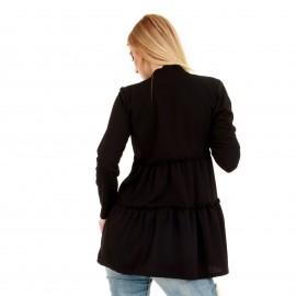 Μαύρη Μπλούζα με Πιέτες
