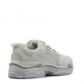 Λευκά Sneakers με Κορδόνια
