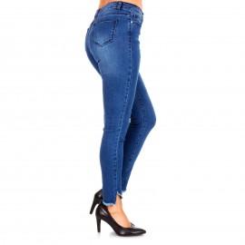 Τζιν Skinny Παντελόνι με Σχέδιο στο Ρεβέρ