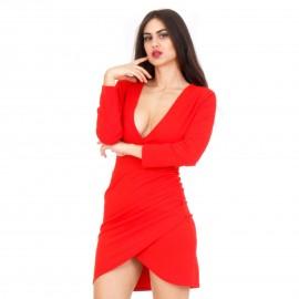 Κόκκινο Mini Φόρεμα με Άνοιγμα στην Πλάτη